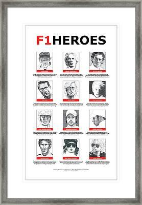 F1heroes Poster Framed Print