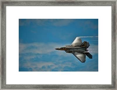F22 Raptor Steals The Show Framed Print