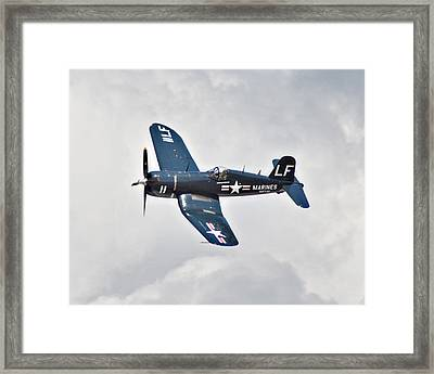 F4 Corsair Framed Print by Mark Weaver