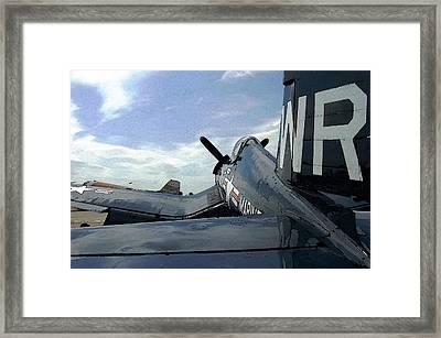 F4-u Corsair Framed Print by Jame Hayes