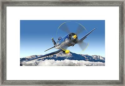 F4-u Corsair Framed Print by Larry McManus