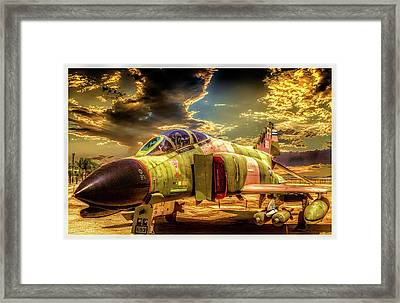 Framed Print featuring the photograph F4c Phantom Jet by Steve Benefiel