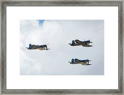 F4u Corsair Framed Print by Brian Knott Photography