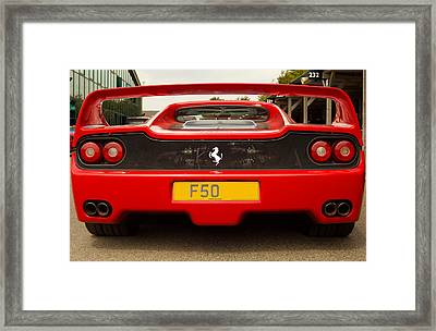 F50 Tail Framed Print