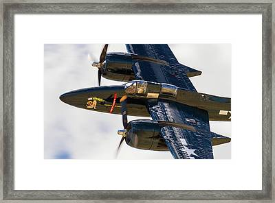F7f Tigercat Here Kitty, Kitty Framed Print