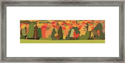 Fall Forest Framed Print by Marian Federspiel