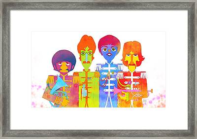 Fab 4 Framed Print by Victor Navone