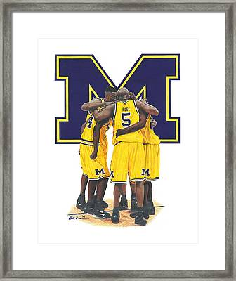 Fab Five Framed Print
