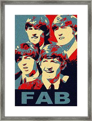 Fab Four Framed Print by Paul Van Scott