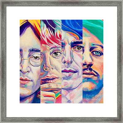 Fab Four Framed Print by Rebecca Glaze