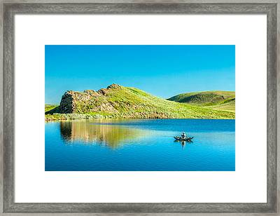 Faber Reservoir Fishing Framed Print by Todd Klassy