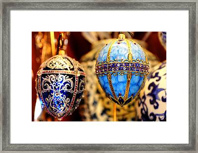 Faberge Holiday Eggs Framed Print