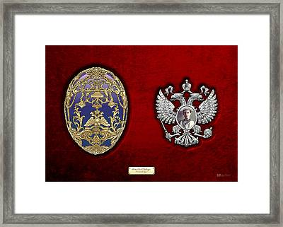 Faberge Tsarevich Egg With Surprise Framed Print