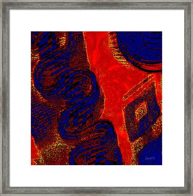 Fabric - A Combination Of Beauty Framed Print by Fania Simon