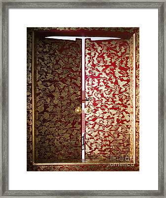Fabric-covered Window Framed Print by Andersen Ross