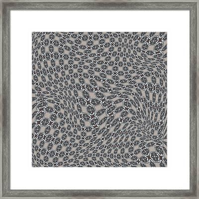 Fabric Design 11 Framed Print by Karen Musick