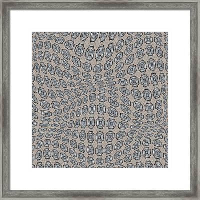 Fabric Design 12 Framed Print by Karen Musick
