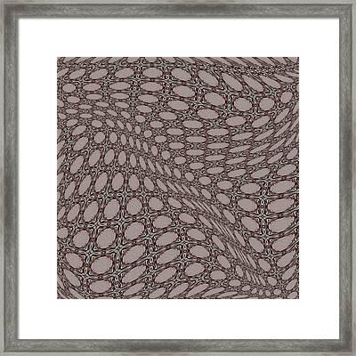Fabric Design 14 Framed Print by Karen Musick