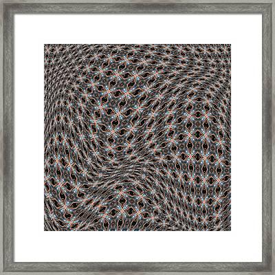 Fabric Design 15 Framed Print by Karen Musick