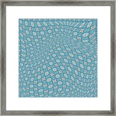 Fabric Design 16 Framed Print by Karen Musick