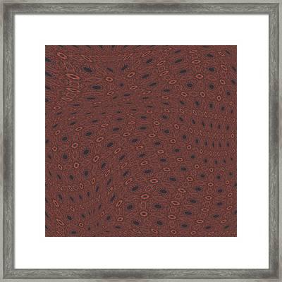 Fabric Design 18 Framed Print by Karen Musick