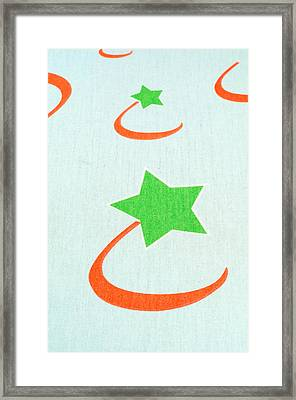 Fabric Textile With Star Framed Print by Boyan Dimitrov
