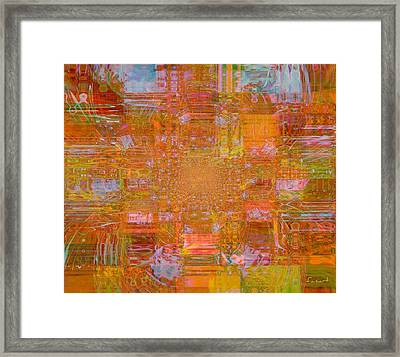 Fabric Two Framed Print by Fania Simon