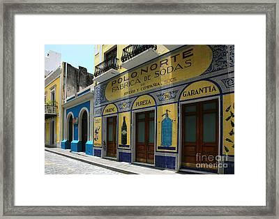 Fabrica De Sodas Framed Print