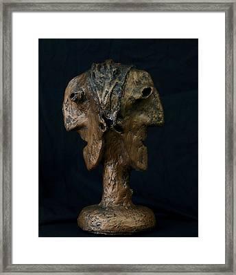Fabulas Janus Bust  Framed Print by Mark M  Mellon