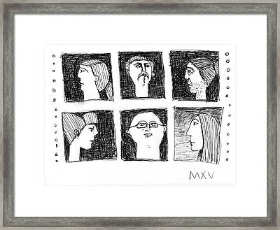 Fabulas No. 5 Framed Print by Mark M  Mellon
