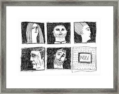 Fabulas No. 6  Framed Print by Mark M  Mellon