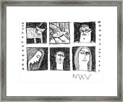 Fabulas No. 7  Framed Print by Mark M  Mellon