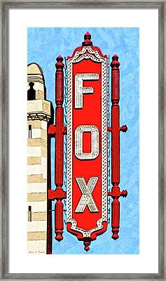 Fabulous Fox Marquee - Atlanta Framed Print by Mark Tisdale