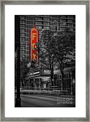 Fabulous Fox Theater Framed Print