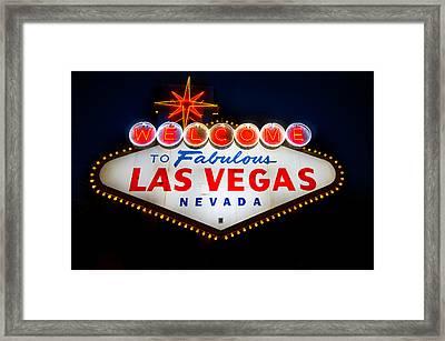 Fabulous Las Vegas Sign Framed Print by Steve Gadomski