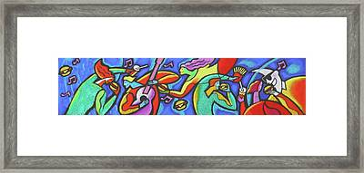 Fabulous Outdoor Party Framed Print by Leon Zernitsky