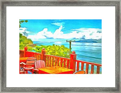 Fabulous View Of A Lake Framed Print by Ashish Agarwal