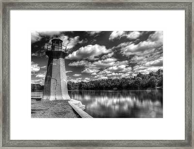 Fabyan Lighthouse On The Fox River Framed Print