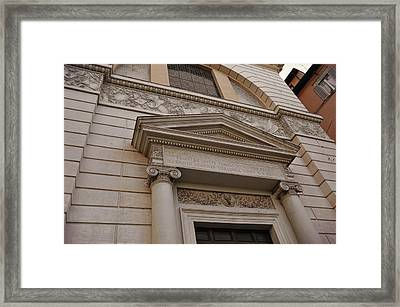Facade Frieze Framed Print by JAMART Photography