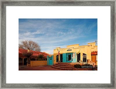 Facade Of A Souvenir Store At Old Town Albuquerque - New Mexico Framed Print by Silvio Ligutti
