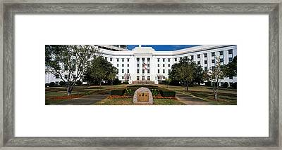 Facade Of An Office Building, Lurleen Framed Print by Panoramic Images
