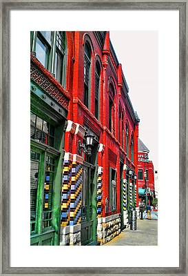 Facade Of Color Framed Print
