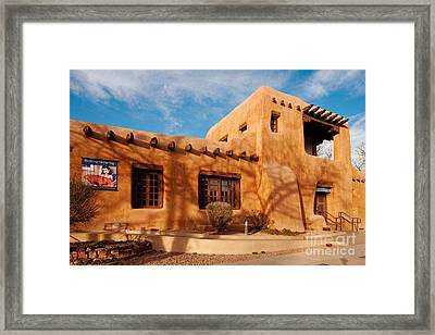 Facade Of New Mexico Museum Of Art II - Santa Fe New Mexico Framed Print by Silvio Ligutti