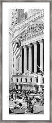 Facade Of New York Stock Exchange, Manhattan, New York City, New York State, Usa Framed Print by Panoramic Images