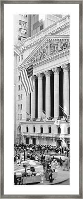 Facade Of New York Stock Exchange, Manhattan, New York City, New York State, Usa Framed Print