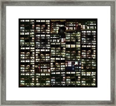 Framed Print featuring the photograph Facades by Karni Dorell