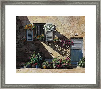 Facciata In Ombra Framed Print by Guido Borelli