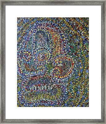 Face-1 Framed Print by Dylan Chambers
