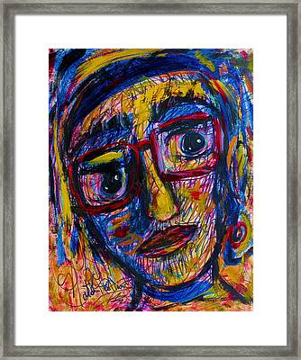 Face 11 Framed Print