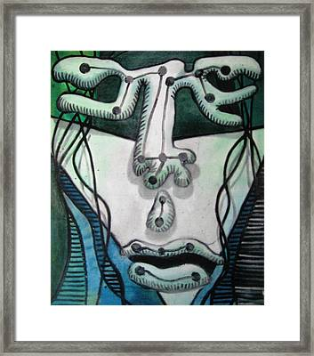 Face Abstraction #4 Framed Print by Chris Boone